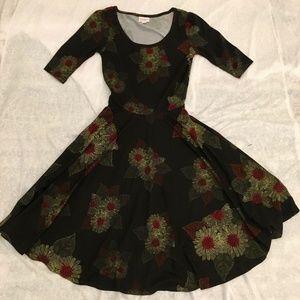 Lularoe Nicole Dress Size XXS NWT Fall Floral